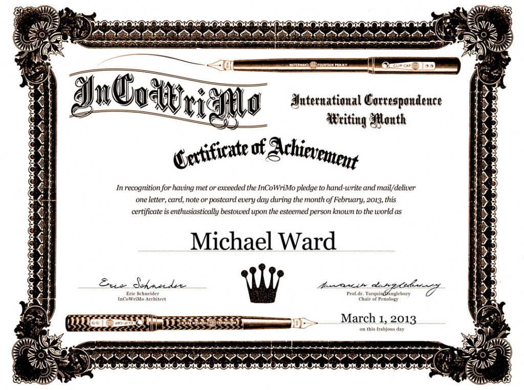 incowrimo award certificates are here incowrimo