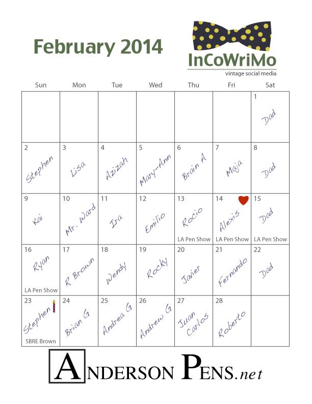 Eric-InCoWriMo-2014-Calendar