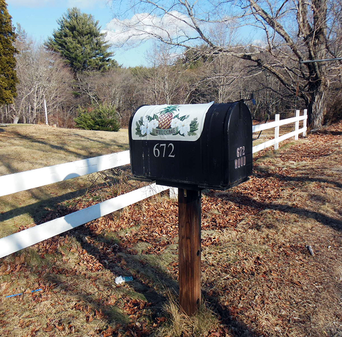 Carl Wood's Mailbox, Coventry, Rhode Island