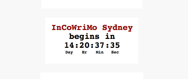 InCoWriMo 2014 Countdown Timers