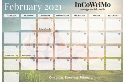 InCoWriMo 2021 Calendar